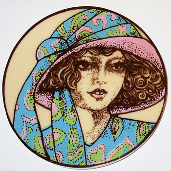 Rare and Early Lea Stein Serigraphy Brooch Pin - Costume Jewelry