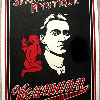 "Original 1920 Newmann The Great ""Seance Mystique"" Stone Lithograph Poster"