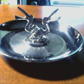 "Hamilton Products Art Deco Style "" Pelican  "" Ashtray / Circa 1940's - 1950's - Tobacciana"