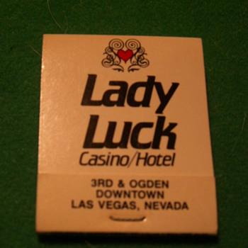 Vintage Lady Luck Casino ~ Las Vegas, Nevada (Fremont Street) - Tobacciana