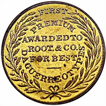 M.A. Root's Daguerrian Gallery Token & Award c.1850