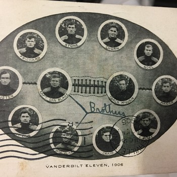 1906 Vanderbilt team post card
