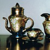  Thrice fired tea set 