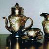 Thrice fired tea set