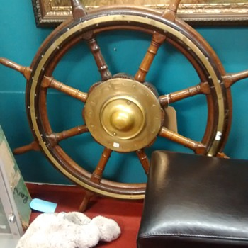 Ships full sized wheel nicely constructed a real one and not pretend hugely expensive in an Antique shop