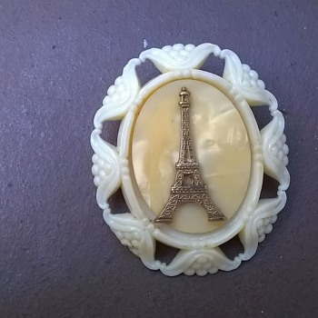 Eifel Tower Souvenir Brooch