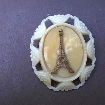 Eifel Tower Souvenir Brooch