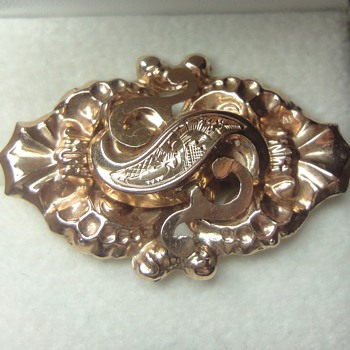 Victorian rose gold slide - Fine Jewelry
