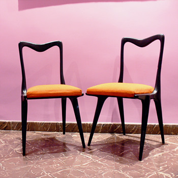 Two italian chairs, 1950s