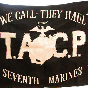 RARE KOREAN WAR 7th Marines Battle flag~ tactical air control party (TACP) - Military and Wartime