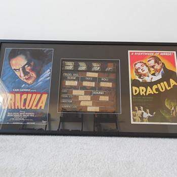 Bela Lugosi Dracula 1931 Production used movie clap board