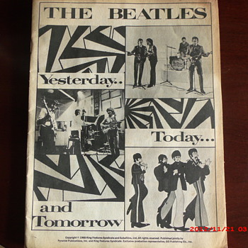 The Beatles Yesterday...Today...and Tomorrow book. - Music