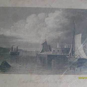 Original Steel Plate Print...NY 1833 - Posters and Prints