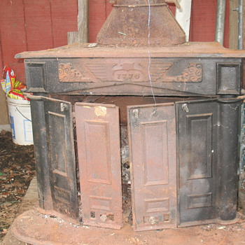 old wood fireplace 1776 cast in front plate