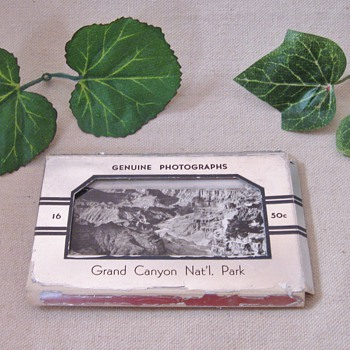 16 Vintage Fred Harvey Genuine Photographs of the Grand Canyon National Park