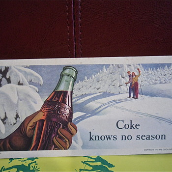 Coke Knows No Season Blotter