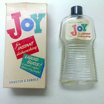 Antique Joy Detergent Bottle with Packaging Box - Bottles