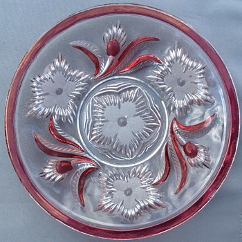 Antique cut glass with engraving