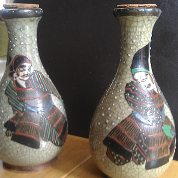 Japanese bottles with corks - Art Pottery
