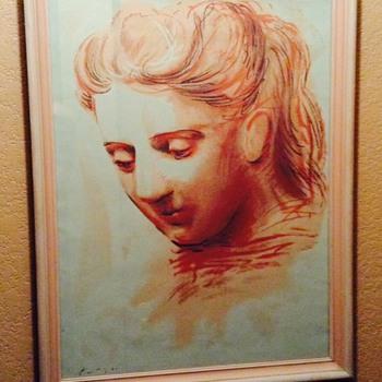 """Pablo Picasso """"Portrait De Femme"""" - Visual Art"""