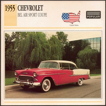 Vintage Car Card - Chevrolet Bel Air Coupe