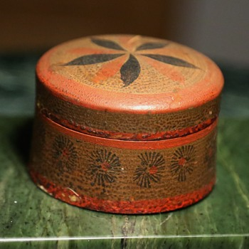 Painted Russian Treenware Box - Folk Art