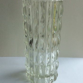 Videnza pressed glass vase (Italy)