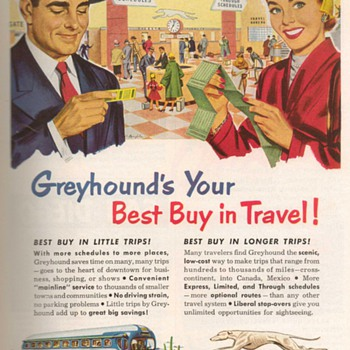 1952 - Greyhound Bus Advertisements - Advertising
