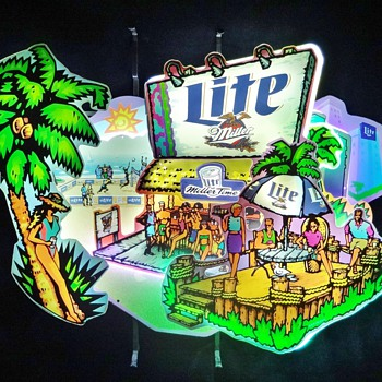 Miller Lite LA 57 Beer Beach Neon - Signs