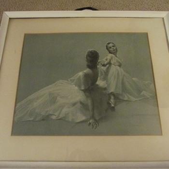 A. von Munchausen Print? Litho? 1954? entitled The Stage - Visual Art