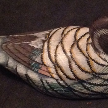 Hand painted wooden duck