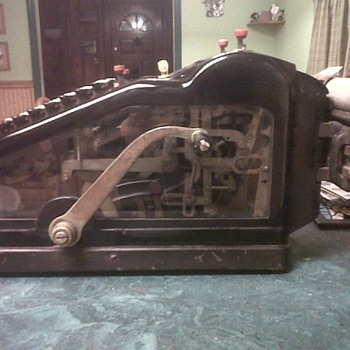 Early 1900's Wales Adding Machine / Beautiful Beveled Glass Sides - Office