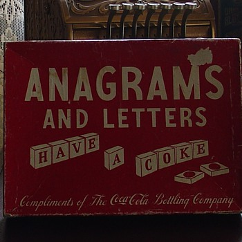Anagrams and Letters...Comlpiments of The Coca-Cola Bottling Company