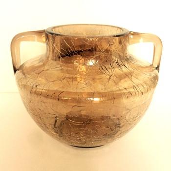 Fritz Heckert 2-handled Craquele Vase