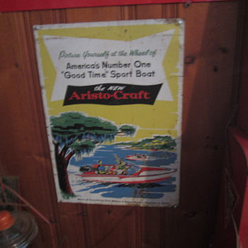 Aristcraft boat sign metal - Advertising