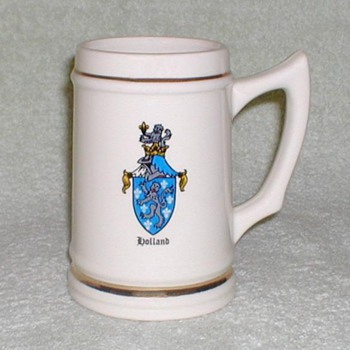"""Holland"" Crest Ceramic Mug Stein & Coasters - Breweriana"