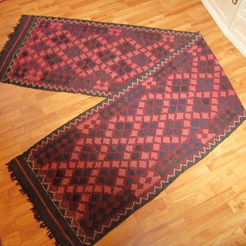 Handmade Woven Wool Long Runner Rug South American Middle Eastern? - Rugs and Textiles