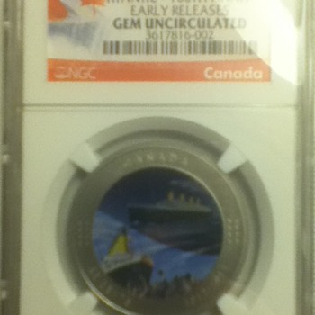2012 Titanic Commemorative Coin