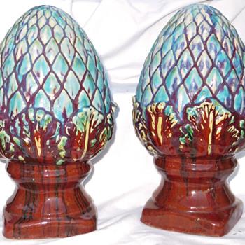 Sang de Boeuf Garden Finials. Dalpayrat? - Art Pottery