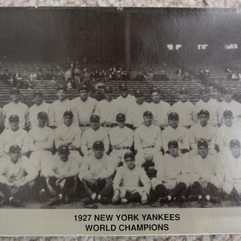 yankees 1927 ruth gehrig baseball postcard