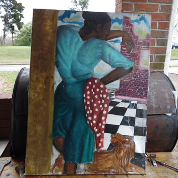 Vintage African American Painting - Visual Art