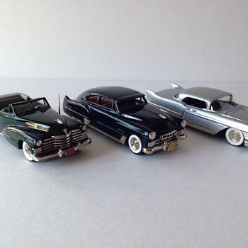 Handmade White Metal Cadillac Replicas