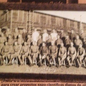 post WWI U.S. Army 2nd Division yard long photo 1925