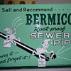 Bermico Sewer Pipe Tin Sign