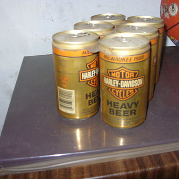 1988 6 pack of harley davidson beer