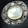 Arts & Crafts silver blister pearl brooch.