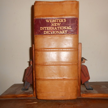 mine !!!  dictionary and book ends