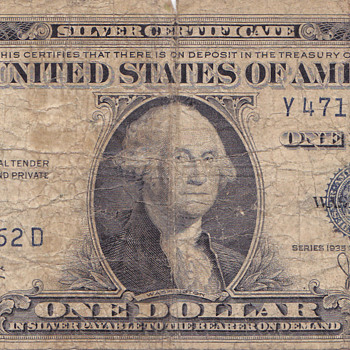 1935C One Dollar Silver certificate with blank back ? - US Paper Money