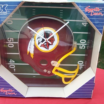 Redskins Clock- anybody know how old this is?
