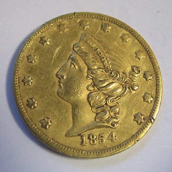 1854 Kellogg Double Eagle - US Coins